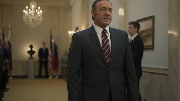 Der Besuch des russischen Präsidenten verläuft nicht nach Franks (Kevin Space...