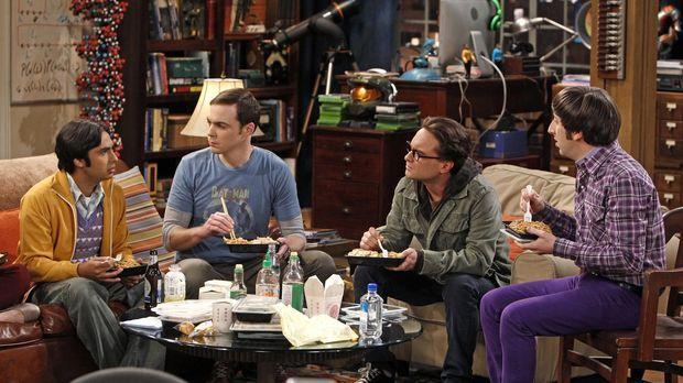 Ganz besondere Freunde: Sheldon (Jim Parsons, 2.v.l.), Rajesh (Kunal Nayyar,...