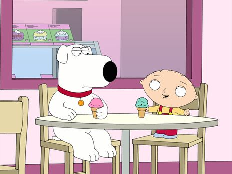 Family Guy - Stewie (r.) hat zufällig mitbekommen, wie Brian (l.) einen Hund...