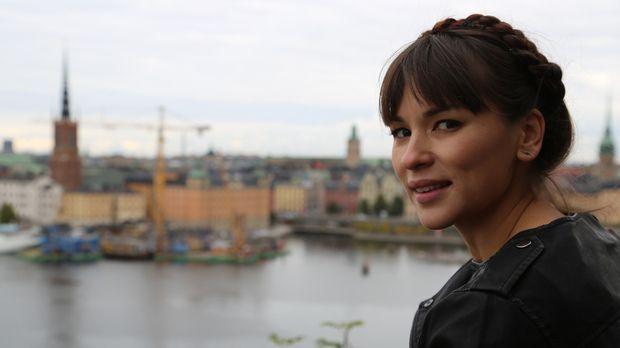 Rachel lässt sich von der Kühle in Stockholm nicht abschrecken ... © Richard...