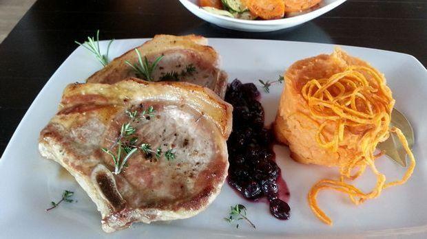 Ibericoschwein-Suesskartoffelpuree