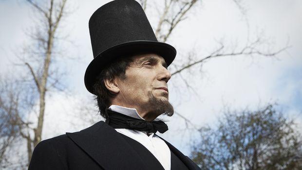 Bis zur Präsidentschaftswahl von 1860 hatte Lincoln (Darsteller unbekannt) ni...